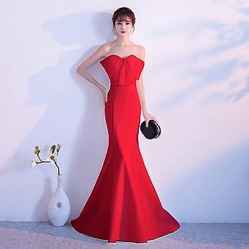 TY-ER Dulce Vestido de Noche Vestido de Cola de Sirena Vestido de Cola de