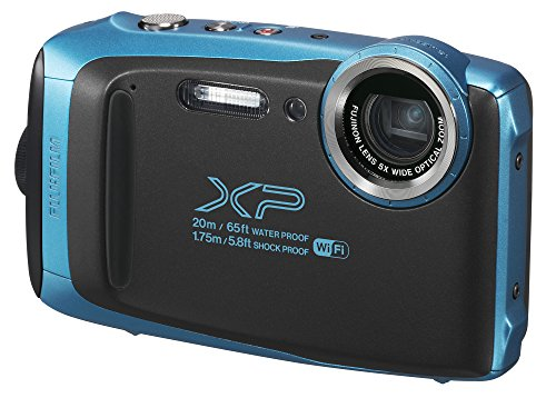 Fujifilm FinePix XP130 Waterproof Digital Camera w/16GB SD Card - Sky Blue