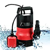 1/2 HP Submersible Sump Pump 400W Dirty Clean Water Pump 2115GPH w/ 15ft Cable and Float Switch