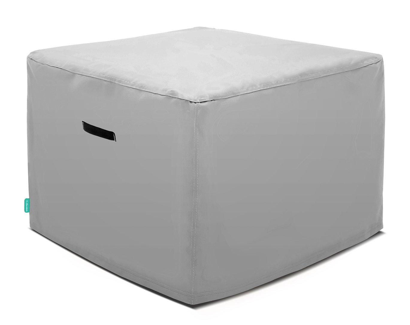 Tarra Home Universal Outdoor Patio Square Table Cover, 38'' W x 38'' D x 30'' H, Presidium Gray
