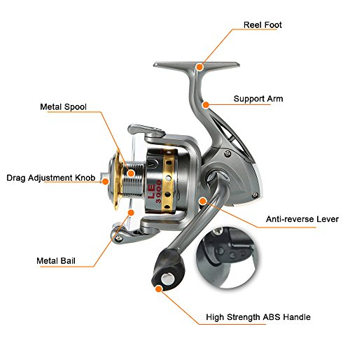 Lixada 99 carbon fiber telescopic fishing rod and reel for Amazon fishing equipment