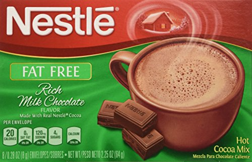 Nestle Hot Cocoa Mix, Fat Free, 8-count Envelopes (Pack of 6) by Nestle