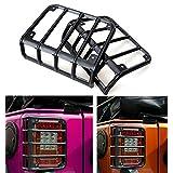 u-Box Matte Black Rugged Style Taillight Cover for 07-17 Jeep Wrangler JK & JK Unlimited