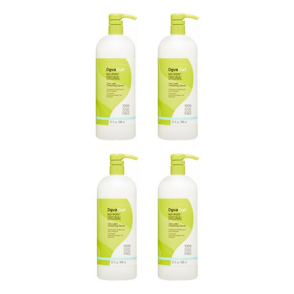 DevaCurl No Poo, Conditioning Cleanser 32 oz (4pack)