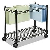 Fellowes 45081 High-Capacity Rolling File Cart, 24w x 14d x 20-1/2h, Black