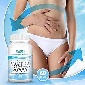 Number One Nutrition Natural Diuretic Water Away Pills, 60 Capsules