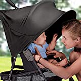 YIGER Summer Infant UVA /UVB Protective Sun Stroller Cover RayShade Stroller Cover Sun-proof Stroller Canopy for Strollers, Joggers and Prams Black