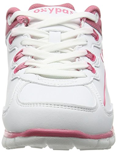 Oxypas Oxysport 'Sunny' Slip-resistant, Antistatic Leather Nursing Trainers, White/Fuchsia (Fuchsia), 7 UK (41 EU)
