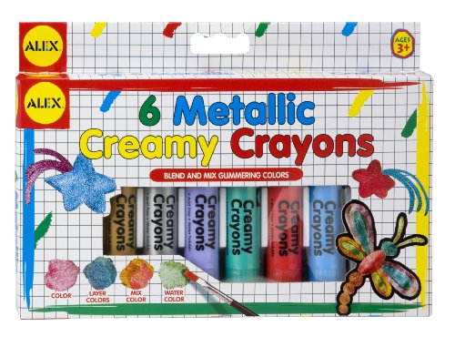 ALEX Toys Artist Studio 6 Metallic Creamy Crayons