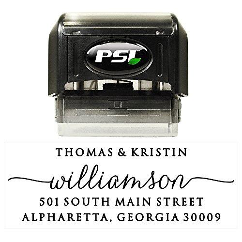 Custom Personalized Self Inking Return Address Stamp - Elegant and Sophisticated - Perfect Wedding, Housewarming, Teacher or Christmas Gift