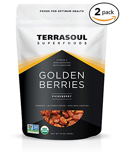 Terrasoul Superfoods Organic Golden Berries, 2 Pounds