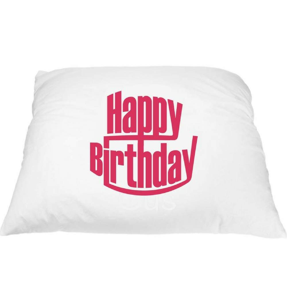 Pink Happy Birthday Pillowcase - Fun Pillowcases for Kids, Birthday Celebration Pillow, Special Today Pillowcase, Happy Birthday Gifts, Kids Birthday Decor, Microfiber Pillowcase Standard 20'' x 30''
