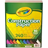 Crayola Construction Paper, 480 Count, 2-Packs of 240 Each, 10 Different Colors, great for Arts & Crafts, Home or School Projects