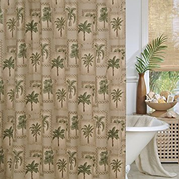 Palm Tree Fabric Shower Curtain
