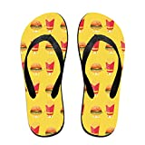Couple Slipper Fries Freinds Print Flip Flops Unisex Chic Sandals Rubber Non-Slip Spa Thong Slippers