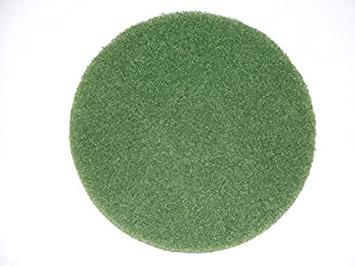 "BISSELL BigGreen Commercial 437.056BG Cleaning Pad for BGEM9000 Easy Motion Floor Machine, 12"", Green"