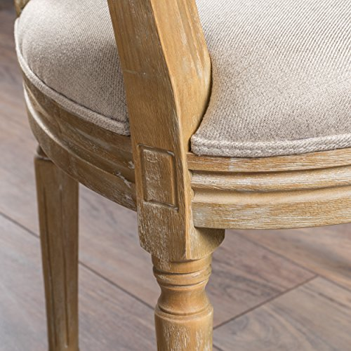 Christopher Knight Home 300258 Phinnaeus Beige Fabric Dining Chair (Set of 2), by Christopher Knight Home (Image #3)