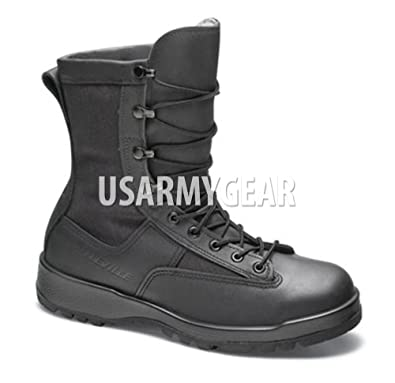 Amazon.com | BELLEVILLE US Army Military Black Leather Waterproof ...