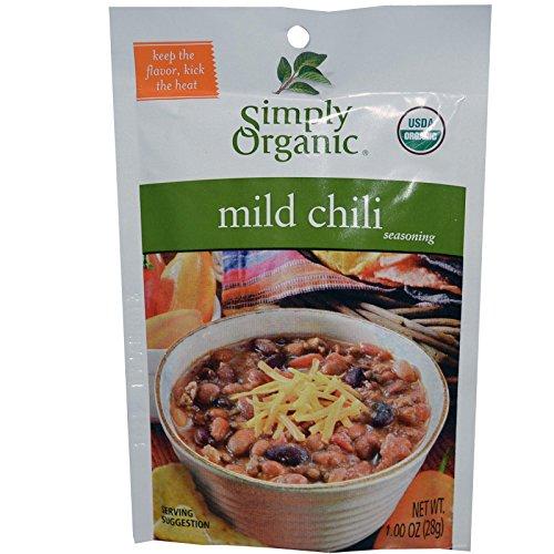Simply Organic Mild Chili Seasoning Mix-1 oz.-3pack
