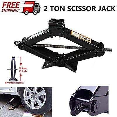 2 Ton Scissor Jack Leveling Steel Automotive with Speed Handle for Car Van Vehicle