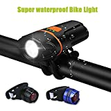 LED Bicycle Lights Set,WU-MINGLU IP 64 1100 Lumens Waterproof USB Rechargeable Bike Light Set, Super Bright Bike Headlight for Bicycles,Road, MTB & Safety Flashlight for Woman