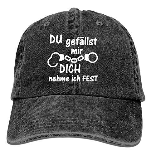 QIPNVY Baseball Trucker Cap,Festnahme Liebe Polizei Handschellen Geschenk Adjustable Youth Cowboy Mens Golf Caps Hats (Polizei-designer)