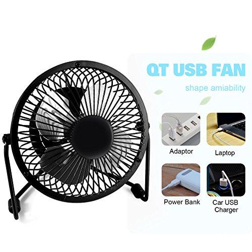 Small Aluminum Fan Blades : Mini office fan glamouric usb small metal quiet