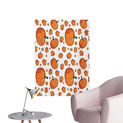 ParadiseDecor Harvest Wall Paper Halloween Inspired Pattern Vivid