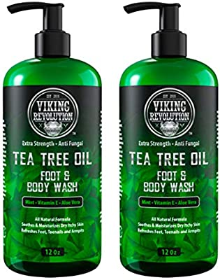 Antifungal Tea Tree Oil Body Wash Soap For Men Helps Athlete S Foot Toenail Fungus Jock Itch Eczema Ringworm Body Odors Extra Strength Men S Body Wash 2 Pack Amazon Sg Beauty
