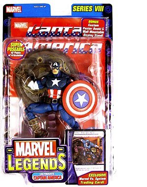 Marvel Legends Series 8 Ultimate Captain America (Blue Version) by Toybiz (Marvel Legends Series 8 Ultimate Captain America)