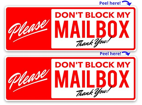 Please Do Not Block My Mailbox Warning Stickers 2X