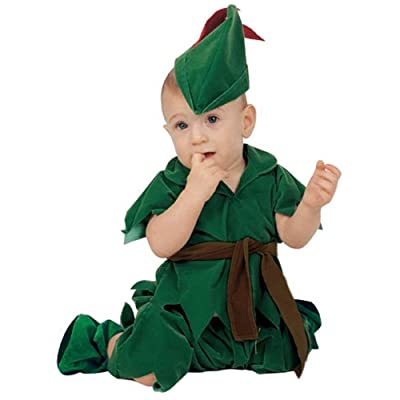 Baby Boy Infant Peter Pan Costume (12 Months) Green: Clothing