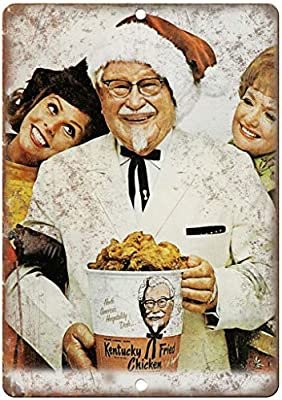 "Benson Kentucky Fried Chicken Colonel Sanders KFC 12"" x 8"" Retro Look Metal/Tin Sign"