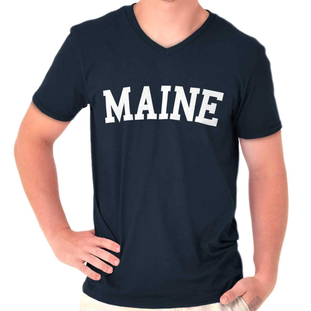 Maine State Shirt Athletic Wear Usa T Novelty Gift Ideas Cool T Shirt 2098