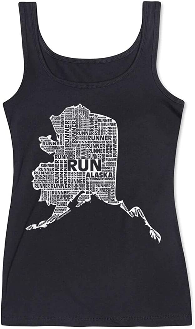 Alaska State Runner Runners Tank Top by Gone For a Run Womens Tank Top