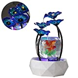 DJLOOKK Peceras Acuario Fish Tank Glass Gold Fish Tank Cuatro Exclusivas Formas De Agua Creativa Sala De Estar Pequeños Adornos Acuáticos Creativos Adecuados para Televisores, Fuentes De Escritorio