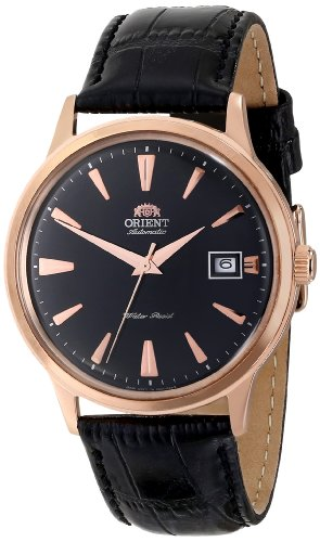 Orient Men's FER24001B0 Bambino Stainless Steel Watch with Black B