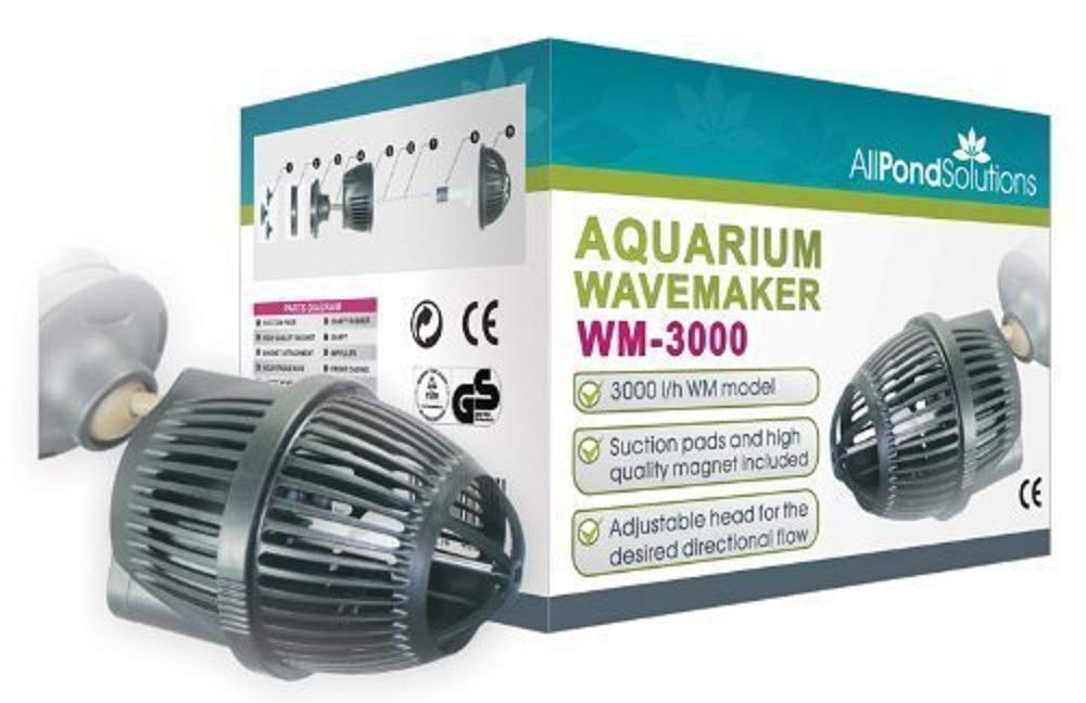 All Pond Solutions WM-3000 Aquarium Dual Powerhead Wave Maker, 3000L H Flow Rate