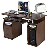 Desk Printer - Computer PC Desk Work Station Office Home Monitor&Printer Shelf Furniture