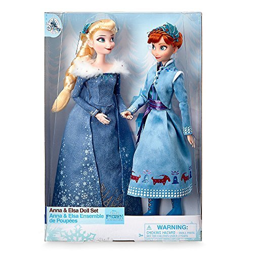 Disney Frozen Anna and Elsa Exclusive Classic Doll Set 11.5-Inch Doll 2-Pack
