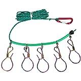 Fishing Lock, 16ft Heavy Duty Stainless Steel Stringer Fishing Lock with 5 Buckle Fishing Gear Kit Accessory