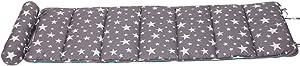 Creation Core Folding Mattress Ultra Soft Cotton Children or Adult Nap Mat Office Sleeping Mat with Removable Pillow (Grey Star)