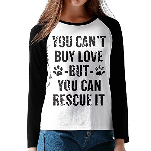Sleeping Dogs High Roller Costume (Rirales D. M You Can't Buy Love But You Can Rescue It Long Sleeve Jersey Shirt Baseball Tee Raglan T-Shirts For GIRL L)