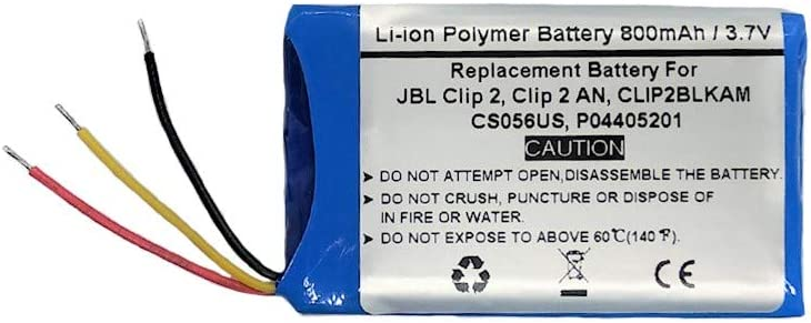 Bateria GSP383555 para JBL Clip 2, Clip 2 an, CLIP2BLKAM