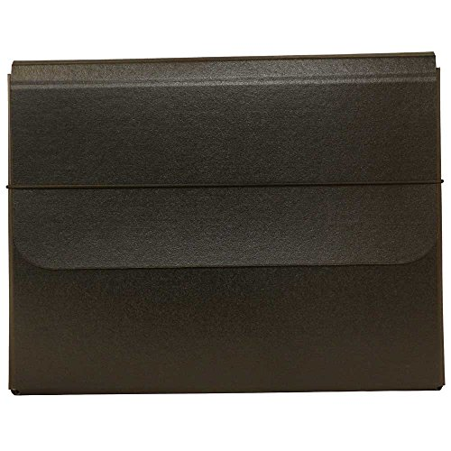 (JAM PAPER Strong Thick Portfolio Carrying Case with Elastic Band Closure - 10 x 1 1/4 x 13 1/4 - Black - Sold Individually)