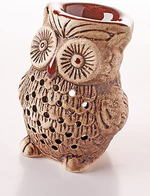 8 cm Owl – Essential Oil Burner Tea Light Holder Great for Home Decoration Aromatherapy , Shliker Ceramic 14892