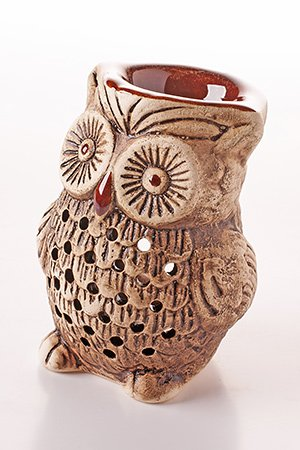 Essential Oil Burner Tea Light Holder Great for Home Decoration /& Aromatherapy/ Shliker Ceramic 14892 8 cm Owl