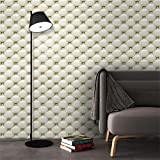 3D Wallpaper, Alonea Vintage Leather textured Self Adhesive Wallpaper PVC Mural Realistic Look Waterproof Pattern Soft Pack TV Sofa Background Living Room Decoration (12 Pack, I)