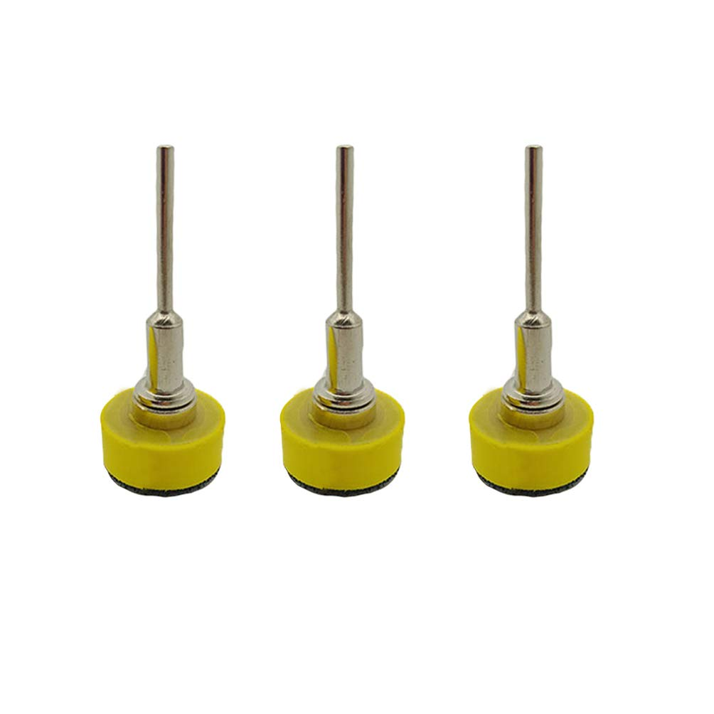 DOITOOL 3PCS 1 Inch (25mm) Hook and Loop Sanding Pad Rotary Backing Pad for Sanding Discs with 1/8 Inches Mandrel Drill Attachment