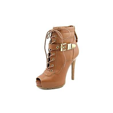 Guess Bieinda Peep Toe Leder Platform Ankle Booties ... f23daa